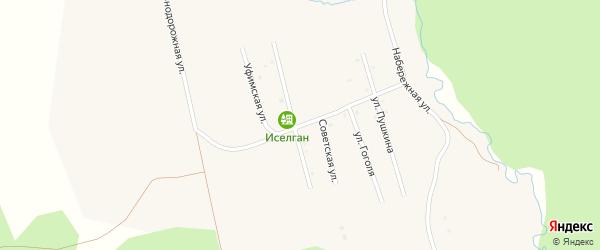 Железнодорожная улица на карте села Верхнеаршинского с номерами домов