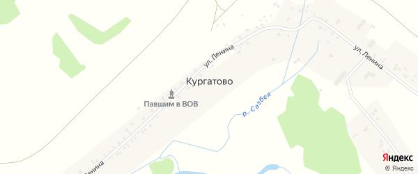 Молодежная улица на карте деревни Кургатово с номерами домов