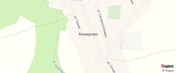 Улица Красных Партизан на карте деревни Ахмерово с номерами домов