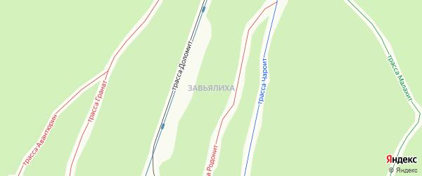 Территория ГСК 214 на карте Челябинска с номерами домов
