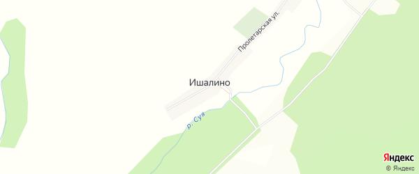 Карта деревни Ишалино в Башкортостане с улицами и номерами домов