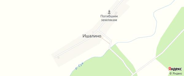 Садовая улица на карте деревни Ишалино с номерами домов