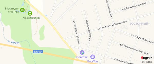 Улица Вафира Тайсина на карте села Аскарово с номерами домов