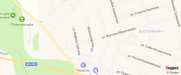Абзелиловская улица на карте села Аскарово с номерами домов