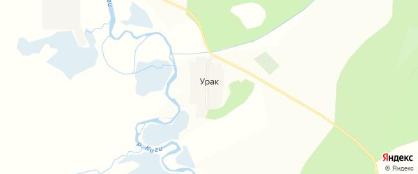 Карта деревни Урака в Башкортостане с улицами и номерами домов