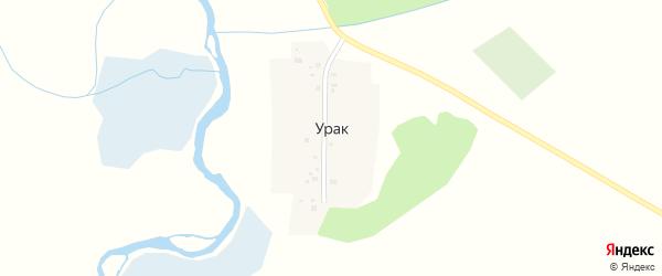 Улица Куранова на карте деревни Урака с номерами домов