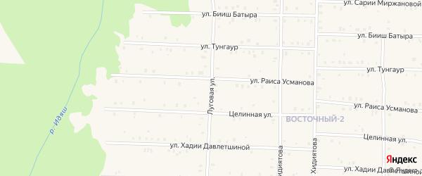 Луговая улица на карте села Аскарово с номерами домов