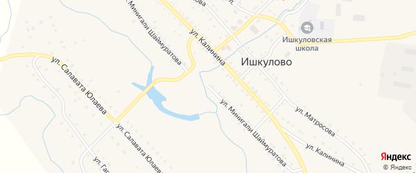 Улица Минигали Шаймуратова на карте села Ишкулово с номерами домов