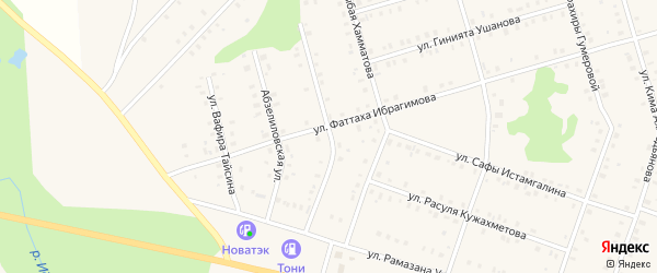 Магнитогорская улица на карте села Аскарово с номерами домов