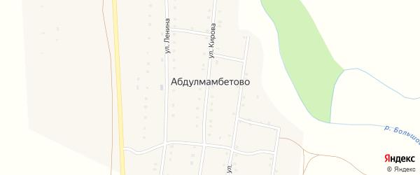 Улица Улугур на карте деревни Абдулмамбетово с номерами домов