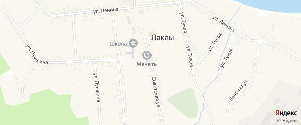 Советская улица на карте села Лаклы с номерами домов