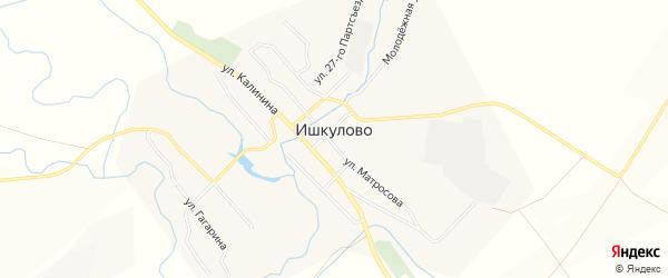 Карта села Ишкулово в Башкортостане с улицами и номерами домов