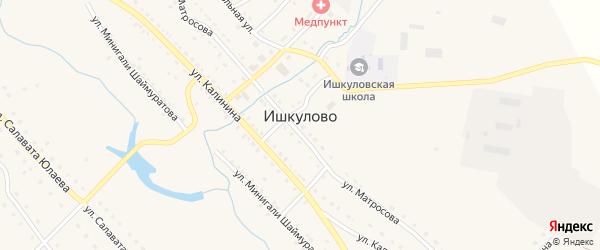 Улица Мусы Муртазина на карте села Ишкулово с номерами домов