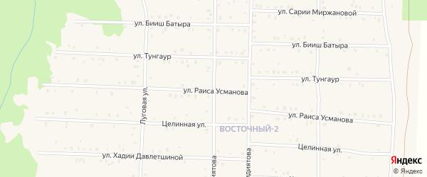 Улица Раиса Усманова на карте села Аскарово с номерами домов