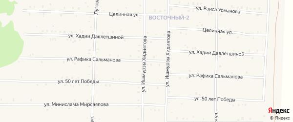 Улица Рафика Сальманова на карте села Аскарово с номерами домов