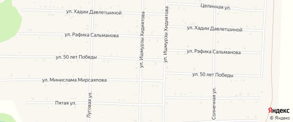Улица 50 лет Победы на карте села Аскарово с номерами домов