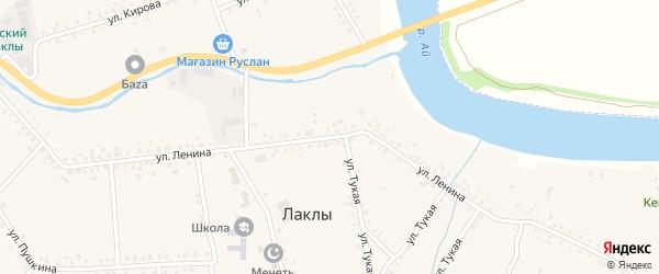 Улица Ленина на карте села Лаклы с номерами домов