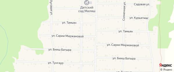 Улица Тамьян на карте села Аскарово с номерами домов