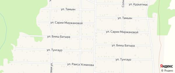 Улица Бииш Батыра на карте села Аскарово с номерами домов
