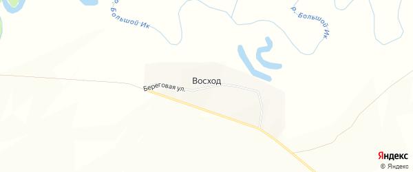 Карта деревни Восхода в Башкортостане с улицами и номерами домов
