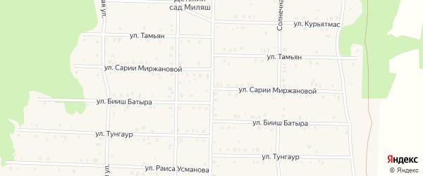 Улица Сарии Миржановой на карте села Аскарово с номерами домов