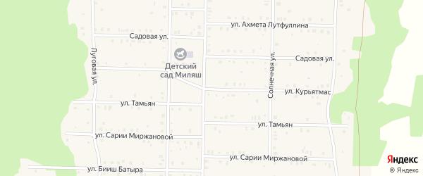 Улица Курьятмас на карте села Аскарово с номерами домов