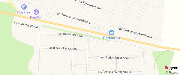 Улица Шаймуратова на карте села Аскарово с номерами домов