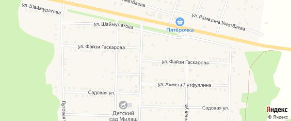 Улица Файзи Гаскарова на карте села Аскарово с номерами домов
