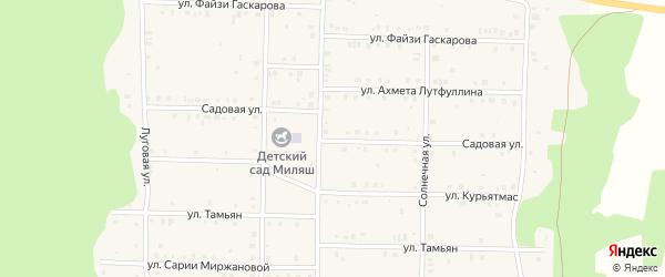 Садовая улица на карте села Аскарово с номерами домов
