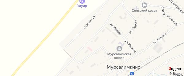 Коммунистическая улица на карте села Мурсалимкино с номерами домов