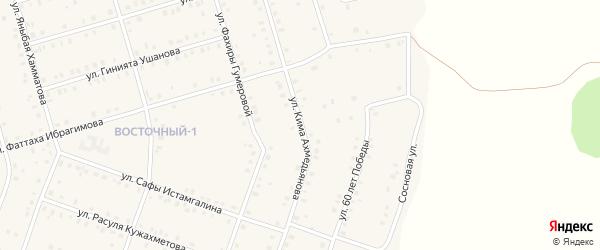 Улица Кима Ахмедьянова на карте села Аскарово с номерами домов