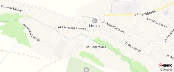 Улица Карагайлы на карте Сибая с номерами домов