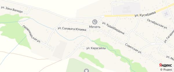Улица Карагайлы на карте села Старого Сибая с номерами домов