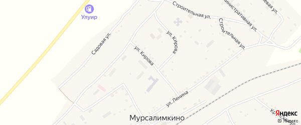 Улица Кирова на карте села Мурсалимкино с номерами домов