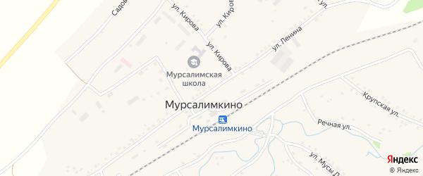 Улица Ленина на карте села Мурсалимкино с номерами домов