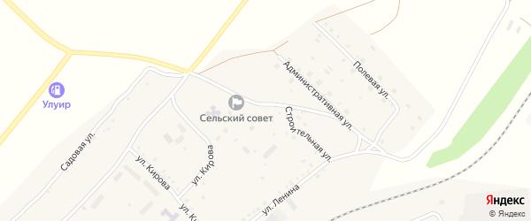 Строительная улица на карте села Мурсалимкино с номерами домов