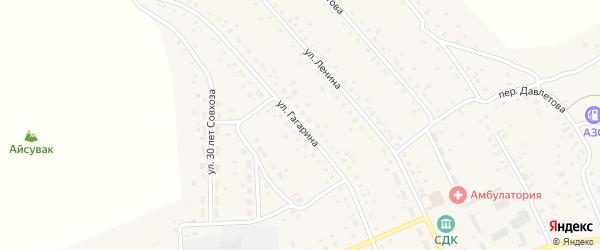 Улица Гагарина на карте села Старого Сибая с номерами домов