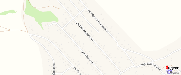 Улица Шаймуратова на карте села Старого Сибая с номерами домов