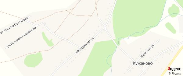 Молодежная улица на карте деревни Кужаново с номерами домов