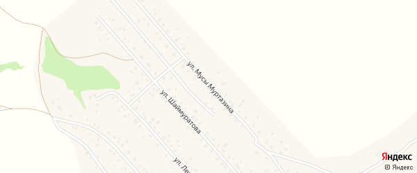 Улица М.Муртазина на карте села Старого Сибая с номерами домов