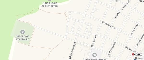Улица Специалистов на карте села Тирлянского с номерами домов