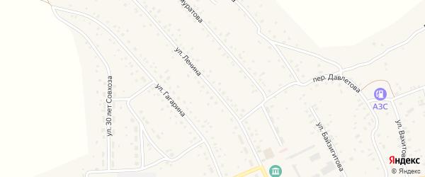 Улица Ленина на карте села Старого Сибая с номерами домов