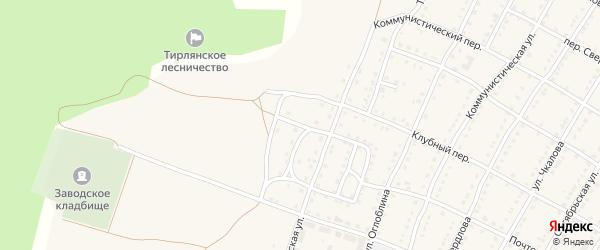 Листопрокатная улица на карте села Тирлянского с номерами домов