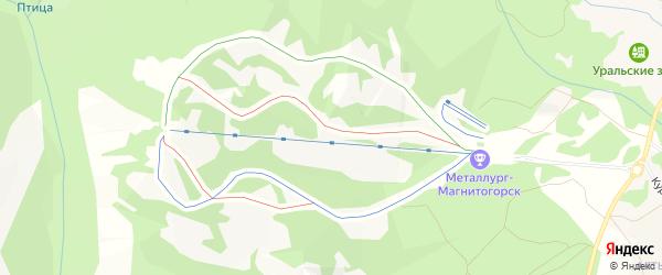 Территория РВ-1 на карте Уфы с номерами домов