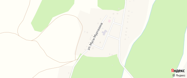 Улица Мусы Муртазина на карте деревни Салаватово с номерами домов