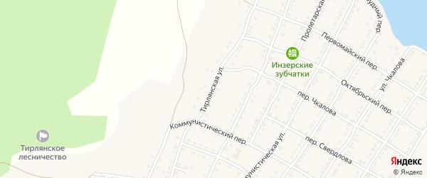 Тирлянская улица на карте села Тирлянского с номерами домов