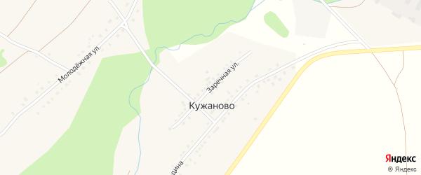 Заречная улица на карте деревни Кужаново с номерами домов