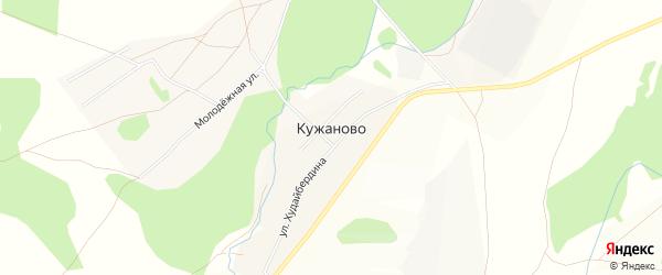 Карта деревни Кужаново в Башкортостане с улицами и номерами домов