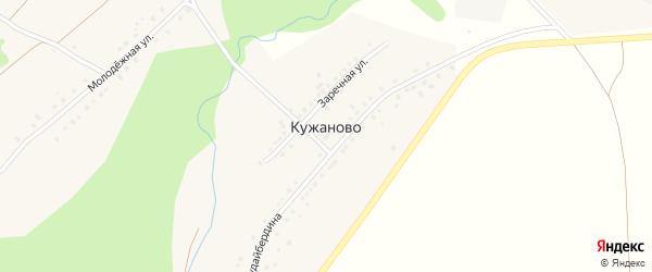 Улица Шагита Худайбердина на карте деревни Кужаново с номерами домов