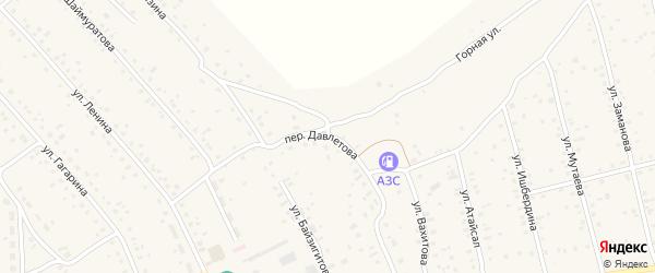 Переулок Давлетова на карте села Старого Сибая с номерами домов